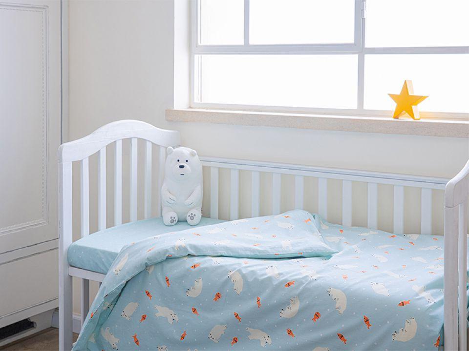 סט מצעי כותנה תינוק דב